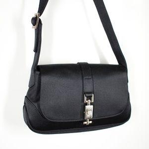 Gucci Vintage Black Satin Mini Shoulder Bag